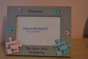 Personalised Handmade Photo Frame Mummy We Love You To Pieces Gift