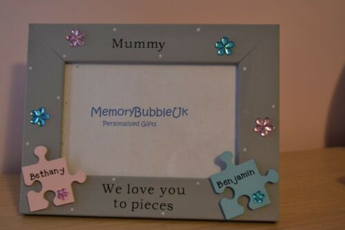 """Personalised Handmade cadre photo momie We love you to pieces cadeau 6X4/"""""""