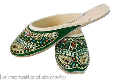 US 6-10 TRADITIONAL HANDMADE WOMEN SHOES INDIAN LEATHER FLIP-FLOPS JOOTI SANDAL