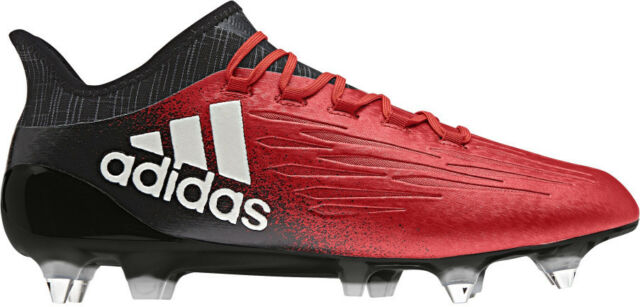 1c518272425ed adidas Childrens Kids Football Soccer X 16.3 Soft Ground BOOTS Studs - Red  5 for sale | eBay