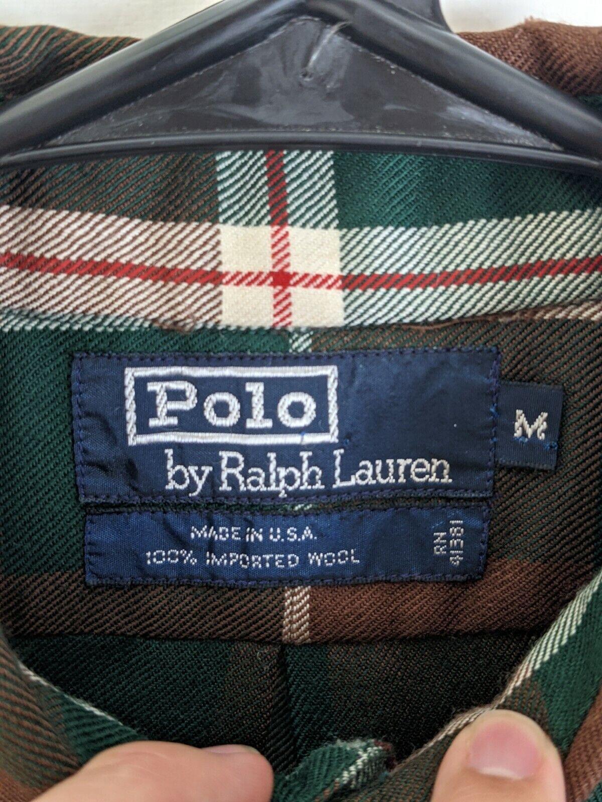 USA Made VTG 80s/90s Polo Ralph Lauren PURE WOOL … - image 4