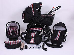 kinderwagen kombi set 3 in1 babyschale buggy pram pushchair poussette t v ebay. Black Bedroom Furniture Sets. Home Design Ideas