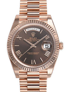 Rolex-Day-Date-228235-President-40mm-Everose-Gold-Chocolate-Roman-Dial-Watch