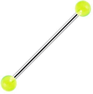un piercing barbell diamètre de la tige 1,6 mm longueur de la tige de 6  à 26 mm