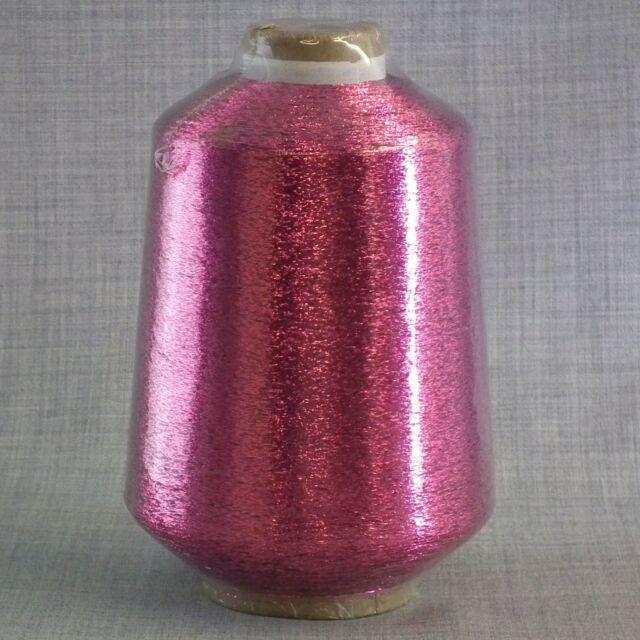 CERISE LUREX METALLIC GLITTER YARN - 500 gram CONE - FREE 1ST CLASS POST * NEW *