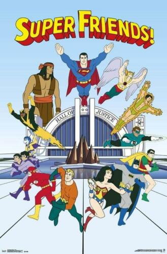Super Friends Superheros 34x22.5 Animated TV Show Art Print Poster