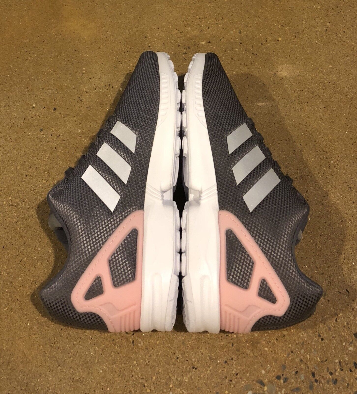 Adidas Zx Flux Women's Size 9.5 US Grey Pink Running Cross Trainer Shoes