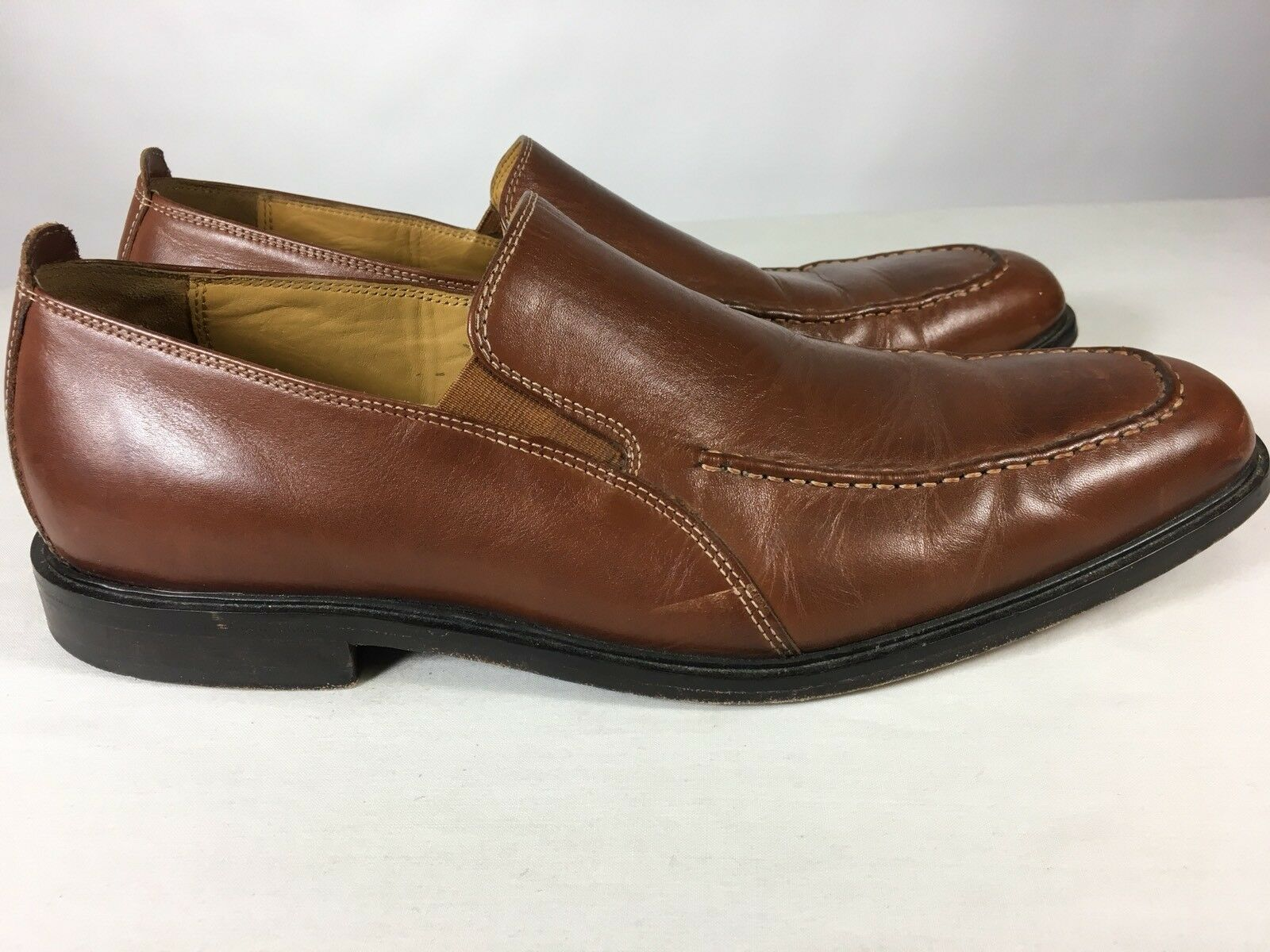 COLE HAAN Mens Brown Leather Moc Toe Loafers shoes Casual SZ 11.5 M