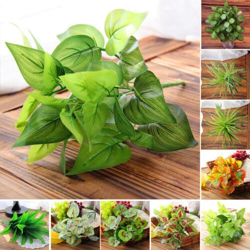 Fake Artificial False Flower Leaf Plants Indoor Outdoor Foliage Bush Garden US