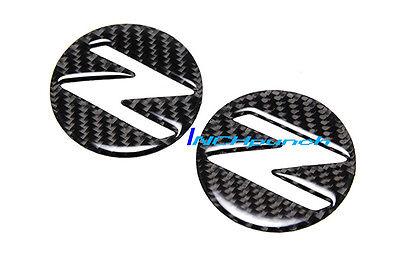 For Nissan 350Z Z33 Fairlady Z Carbon Fiber Side Fender Emblem Decals Filler 2ps