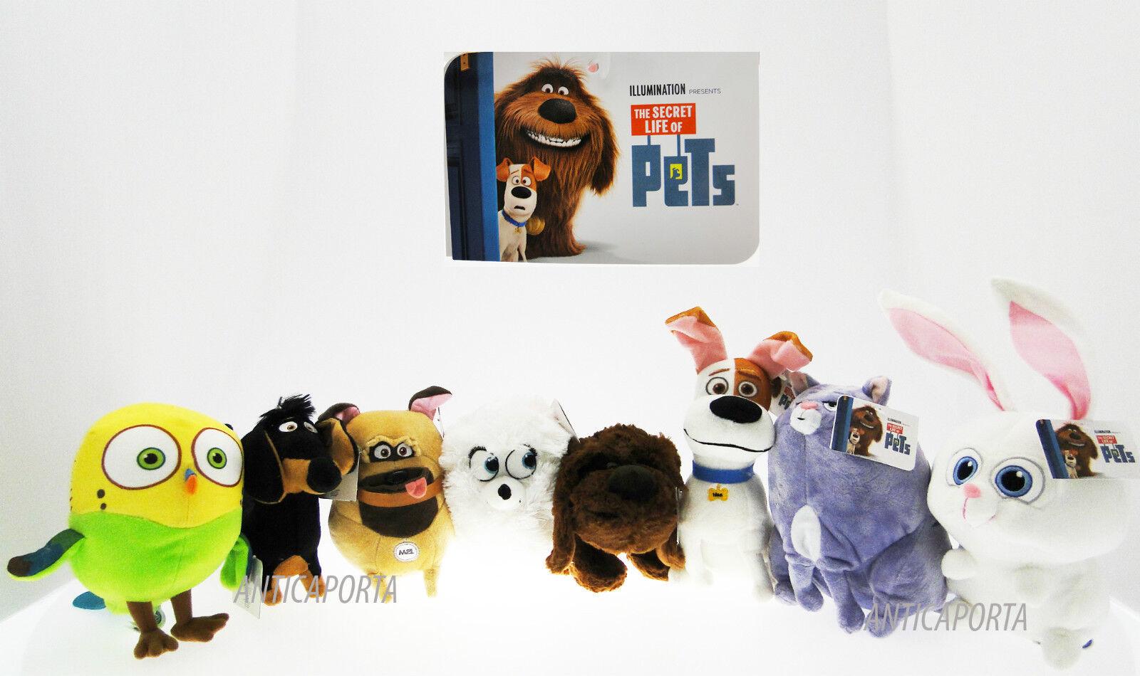 Peluche Pets Vita da Animali Originali Illumination ologramma Universal 15-34 cm