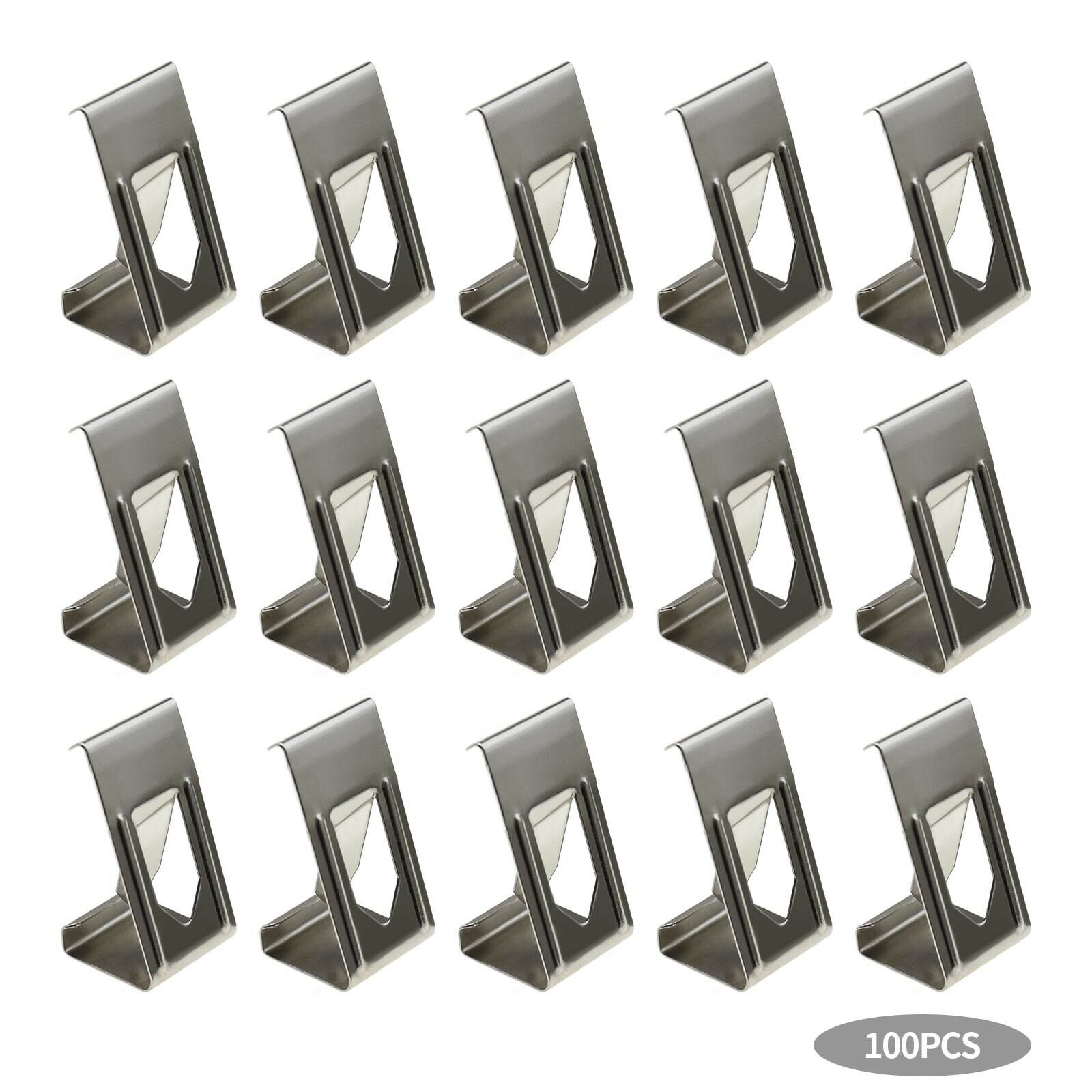 Silver Tone 3D Printer Glass Bed Clips Picture Frame Metal Holder Clamps x100