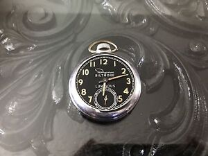 Vintage-Ingraham-Biltmore-Luminous-Pocket-Watch-For-Repair-Parts
