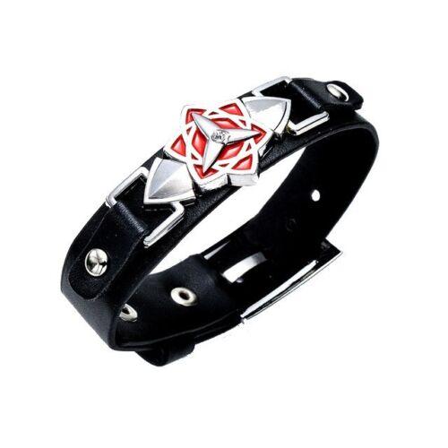 Naruto Armreif Armband aus synthetischem Leder Logo Sasuke Eternal Sharingan