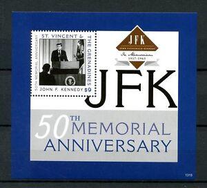 St-Vincent-amp-Grenadines-2013-MNH-John-F-Kennedy-JFK-50th-Mem-1v-S-S-II-Stamps