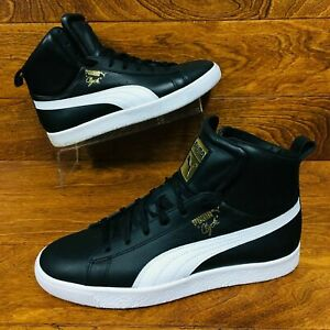 half off 8025b e05f3 Details about Puma Clyde Core (Men's Size 9.5) Mid Athletic Sneakers Black  White