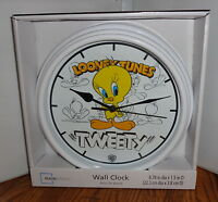 Tweety Wall Clock 1. 9 Dia. Looney Tunes Cartoons.....free Shipping