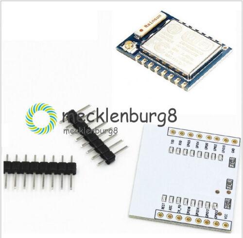 IO Adapter Plate ARDUINO IDE Neu ESP8266 ESP-07 Remote Serial Port WIFI Module