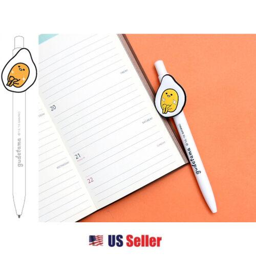 Sanrio Gudetama Lazy Egg Rubber Clip Ballpoint Mascot Pen Dazzling