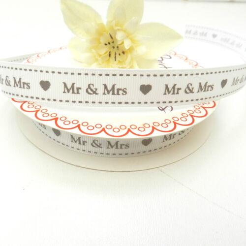 Por Metro día de bodas El Amor De Cinta De 16 Mm De Ancho Señor Y Señora