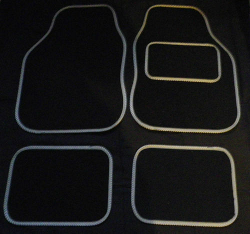 Black and Grey trim Car Mats floor for SAAB 9-3 9-5 900 93 TURBO