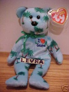 73d0a142a87 Image is loading I-LOVE-GUAM-Ty-Beanie-Baby-Bear-FREE-