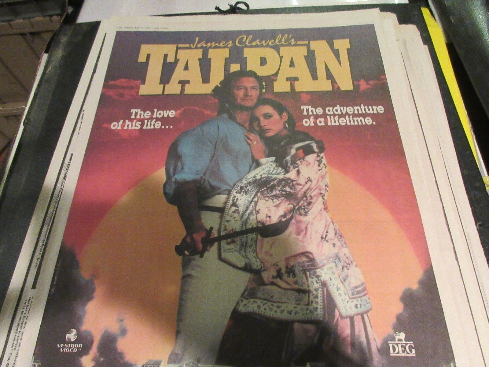 Tai-Pan , USA Today , Newspaper Clipping / Poster , 5/8