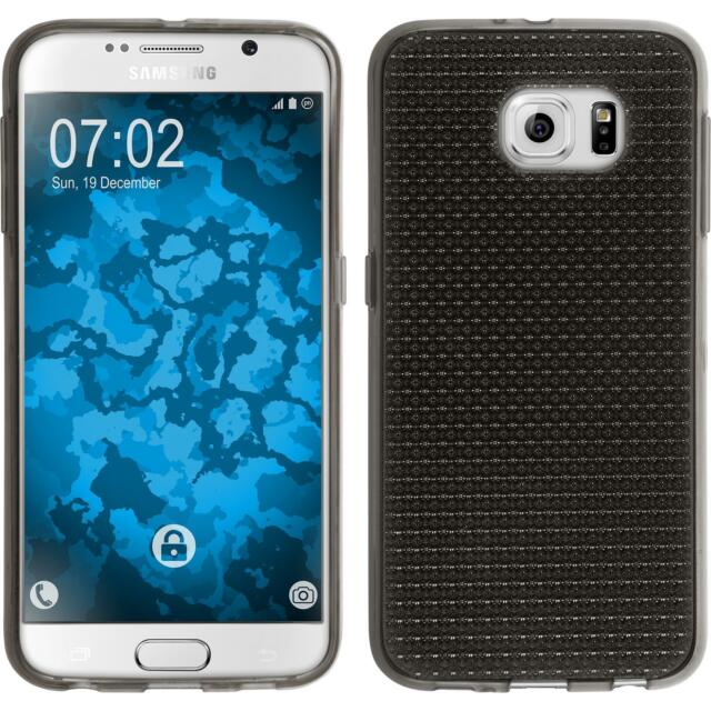 Silicone Case for Samsung Galaxy S6 Iced gray + protective foils