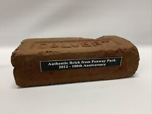 Authentic Brick from Fenway Park Boston Red Sox 100th Anniversary Game Used MLB