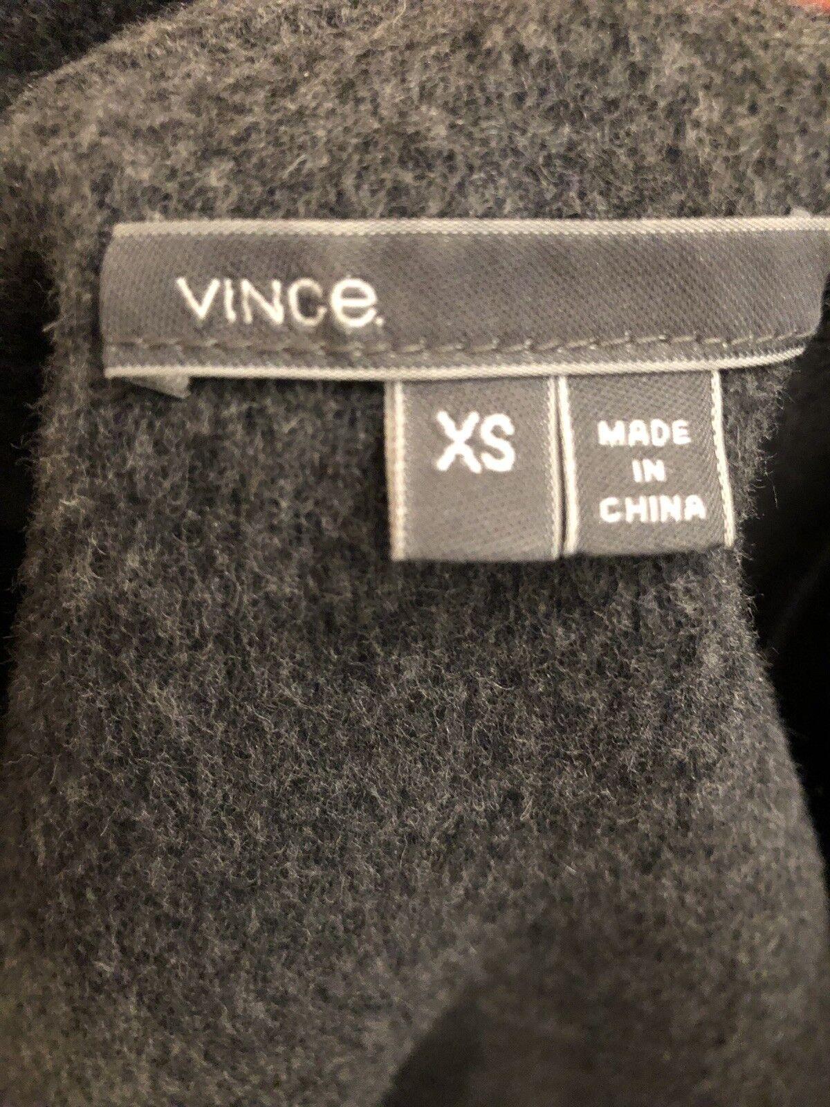 Vince Anthracite Grey Grey Grey 100% Wool Coat XS b47833