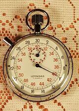 Rare Vtg Leonidas(Hauer Leonidas)7 Jewels Stopwatch,Good Working Cond,1960's?