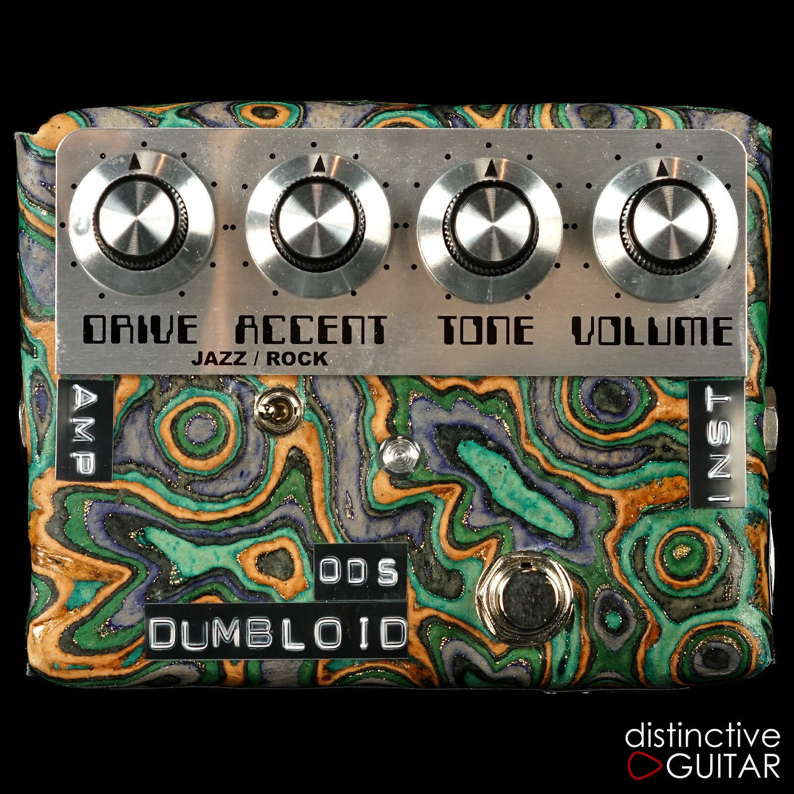 NEW SHINS MUSIC DUMBLOID ODS OVERDRIVE SPECIAL EFFECTS PEDAL Blau MARBLE LEATHER