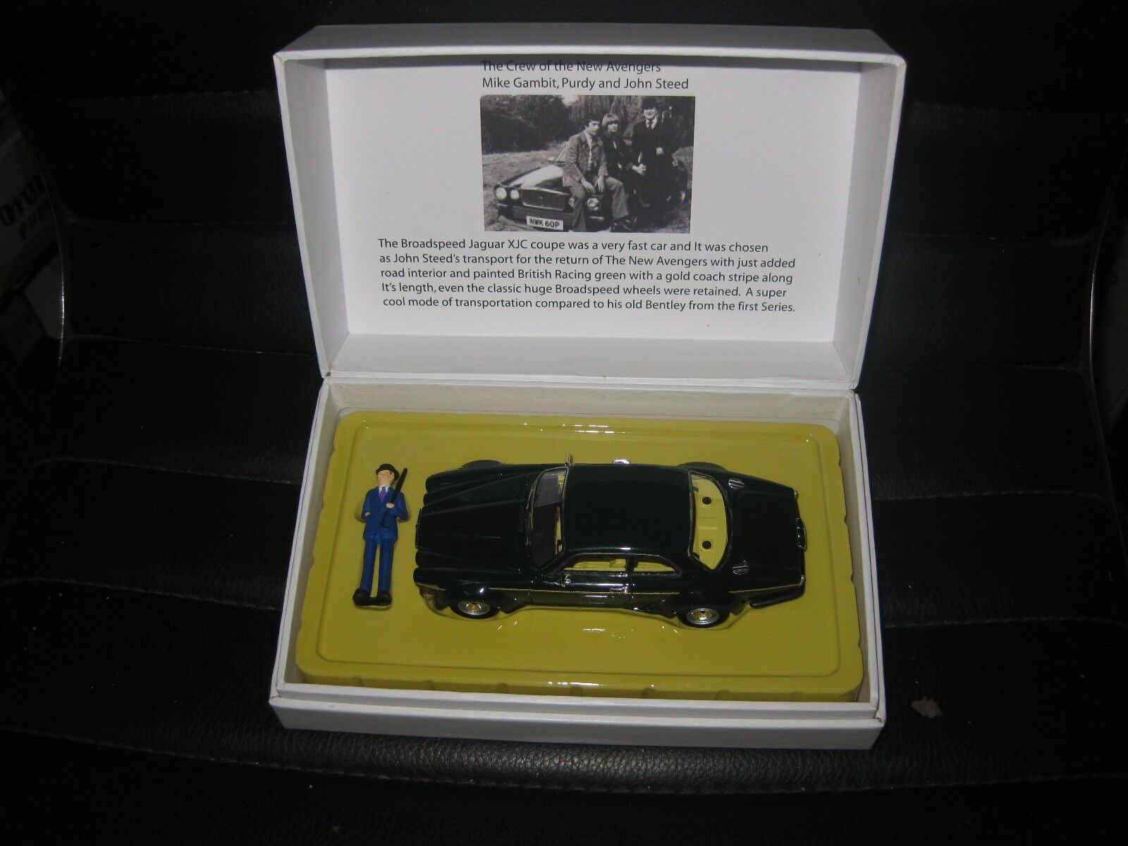 1 43 ACE MODEL CARS JOHN STEED'S BROADSPEED JAGUAR XJC COUPE  THE NEW AVENGERS