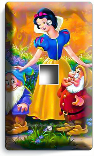 SNOW WHITE PRINCESS AND 7 DWORFS LIGHT SWITCH WALL PLATES OUTLET GIRL ROOM DECOR