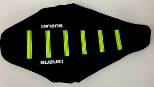 NEW NEON FLO YELLOW SUZUKI Ribbed Seat RMZ250 2007 2008 2009