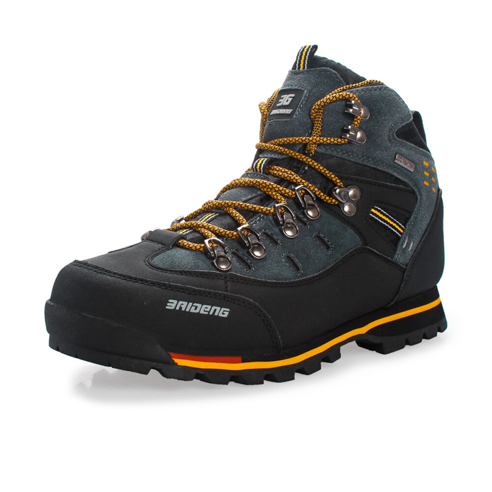 Mens Waterproof Trail Hiking Trekking shoes Outdoor Boots Sneakers Lace up HOT
