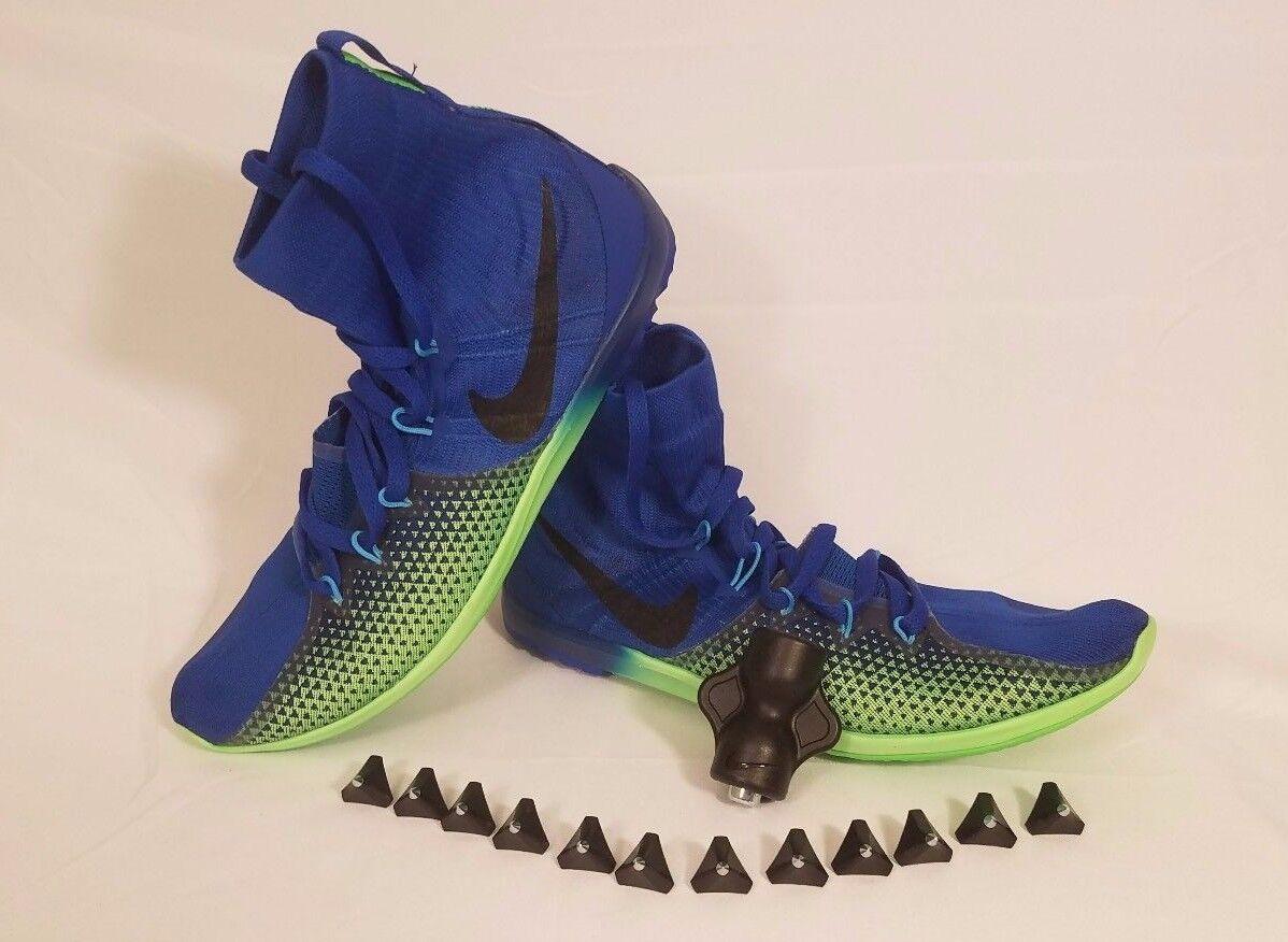Nike Verde Zoom Victory XC 4 Track Spikes hombre furia Verde Nike Azul Jay 878804-403 comodo b8b9b9