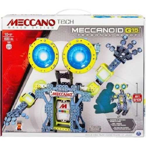 NEW- Meccano Tech Maker System- 2ft Tall MECCANOID G15 PERSONAL ROBOT blueetooth