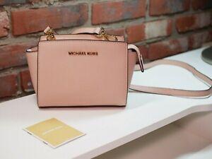 MICHAEL Michael Kors Selma Mini Saffiano Leather Crossbody Bag (Ballet)