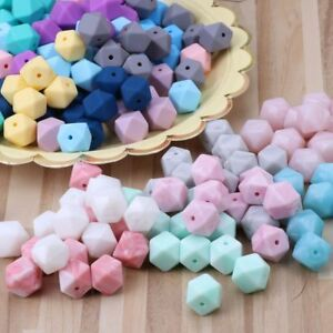 10 pcs Silicone Beads Baby Teething Teether Bead Baby Toy DIY Pacifier Accessory
