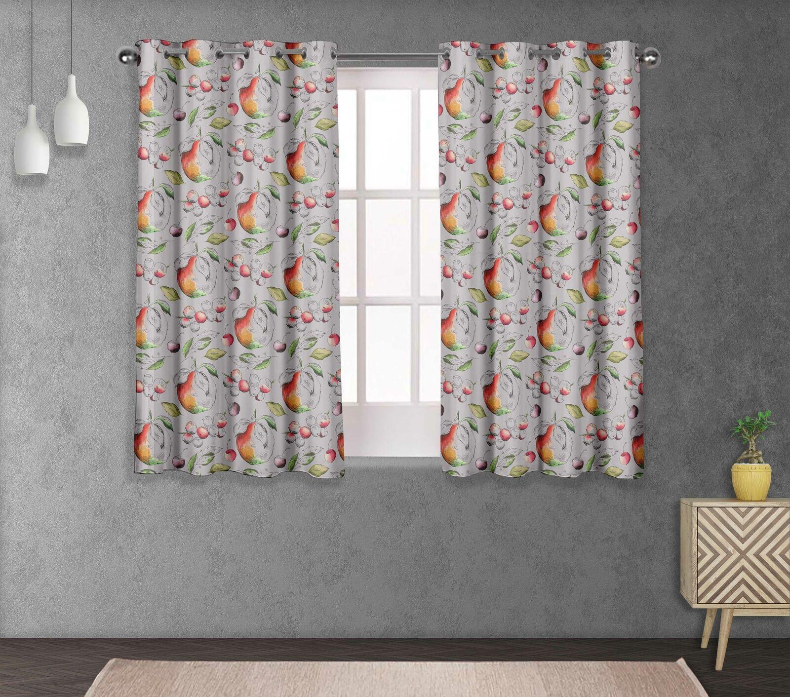 S4sassy Apple & Berries Window short & long Curtain Eyelet  Drapers-FT-553E