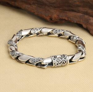 A07-Bracelet-Sterling-Silver-925-round-Tendril-Ornament-21-CM