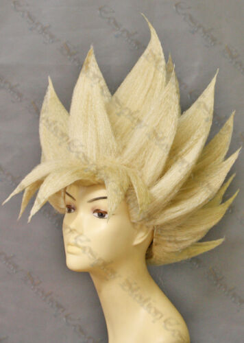 Super Saiyan Goku Custom Made Cosplay Wig/_commission965