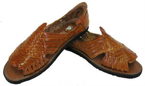 68f71cabdd3f3 Men s Leather Hand Made Woven Handmade Huaraches Pachuco Sandals ...