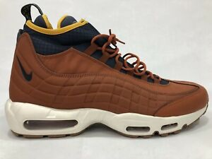 new arrival bc1fe 6d32f Details about 2018 Nike Air Max 95 SneakerBoot Sz 12 Russet Thunder Blue  Yellow 806809-204