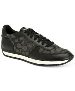 New-Coach-Black-Smoke-Outline-Signature-Leather-Farah-Sneakers-Shoe-7-5-8-5-11