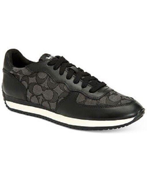 New Coach Black Smoke Outline Signature/ Leather Farah Sneakers Shoe 7.5, 8.5,11