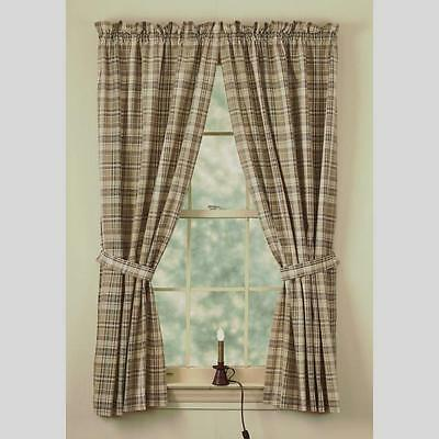 Panel Curtains 72wx63l Burgundy Green