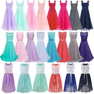 Flower-Girls-Princess-Dress-Party-Wedding-Bridesmaid-Communion-Formal-Maxi-Gown