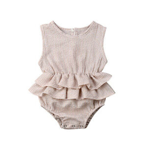 be2060b392a3c Image is loading Cute-Newborn-Kid-Baby-Girl-Clothes-Sleeveless-Romper-